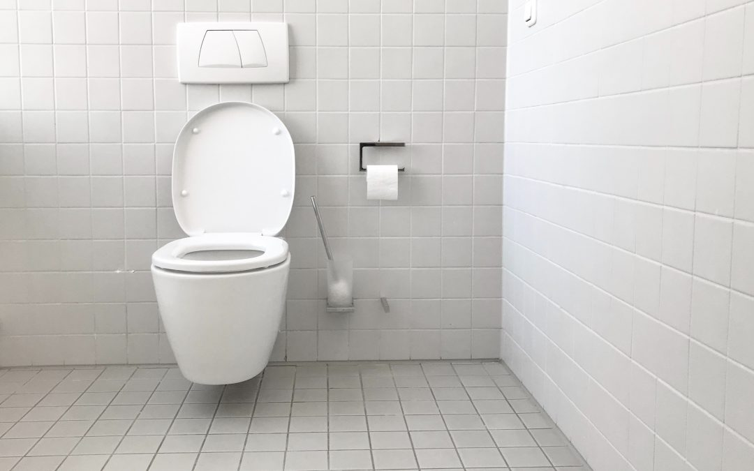 White Toilet is Gurgling